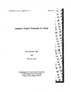 Japanese Import Demands for Meat - AgEcon Search