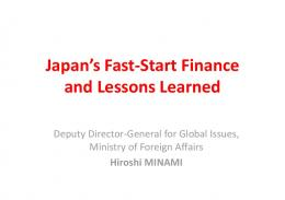 Japan's Fast-Start Finance and Lessons Learned