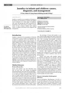 Jaundice in infants and children: causes, diagnosis, and ... - HKMJ