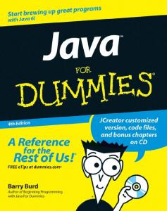 Java for Dummies, 4th ed. - jcph - home