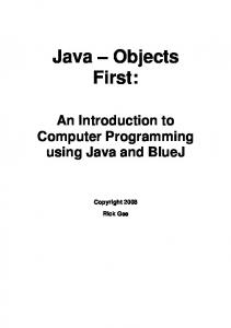 Java - Objects First - Augustana Home