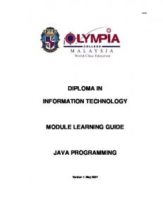 JAVA PROGRAMMING.pdf - Olympia College