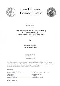 jena economic research papers - SSRN