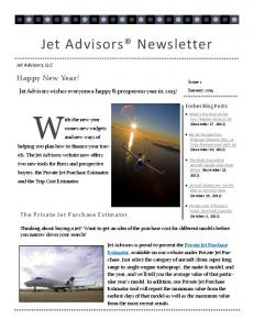 Jet Advisors® Newsletter