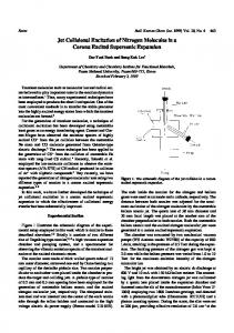 Jet Collisional Excitation of Nitrogen Molecules in a Corona Excited