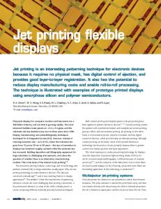 Jet printing flexible displays