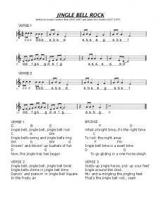Jingle Bell Rock - Lyrics:Score (w:notes labelled) - WordPress.com