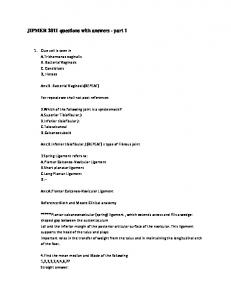JIPMER 2011 questions with answers - part 1