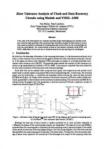 Jitter Tolerance Analysis of Clock and Data Recovery Circuits using ...