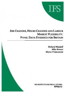 Job changes, hours changes and labour market flexibility - CiteSeerX
