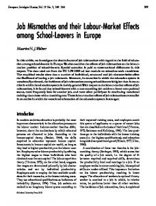 Job Mismatches and their Labour-Market Effects among School ...