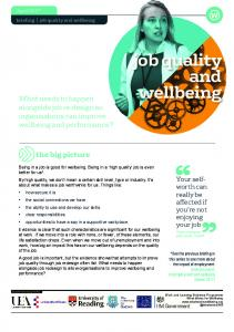 job quality and wellbeing - WordPress.com