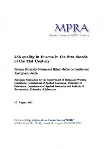 Job quality in Europe in the first decade of the 21st Century