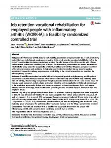Job retention vocational rehabilitation for employed people with ...