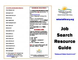 Job Search Resource Guide