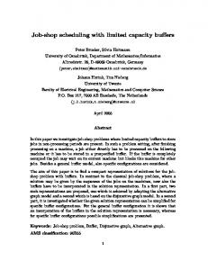 Job-shop scheduling with limited capacity buffers - Semantic Scholar