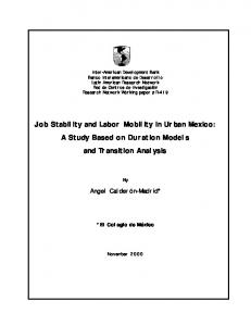 Job Stability and Labor Mobility in Urban Mexico - Inter-American ...