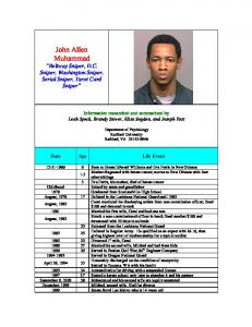 John Allen Muhammad - Murderpedia, the encyclopedia of murderers