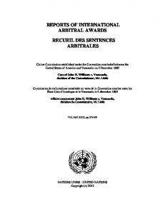John H. Williams v. Venezuela - United Nations Treaty Collection