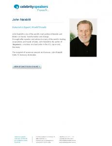 John Naisbitt - Celebrity Speakers