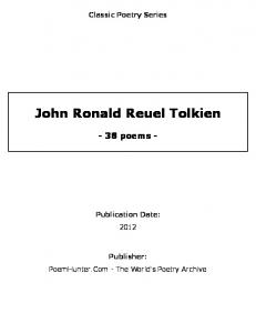 John Ronald Reuel Tolkien - poems -
