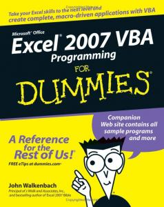 John Walkenbach - Excel 2007 VBA Programming for Dummies