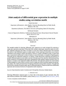 Joint analysis of differential gene expression in ... - Oxford Journals