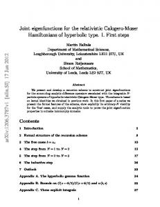 Joint eigenfunctions for the relativistic Calogero-Moser Hamiltonians