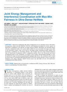 Joint Energy Management and Interference ... - IEEE Xplore