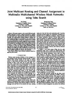 Joint Multicast Routing and Channel Assignment in Multiradio ...