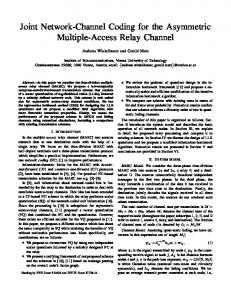 Joint Network-Channel Coding for the Asymmetric Multiple-Access ...