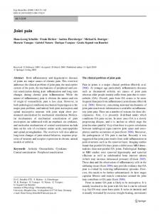 Joint pain - Springer Link