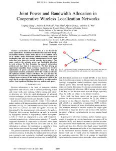 Joint Power and Bandwidth Allocation in Cooperative Wireless ...