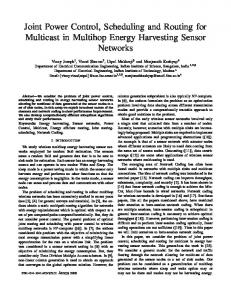 Joint Power Control, Scheduling and Routing for Multicast in Multihop ...