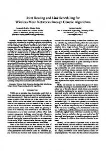 Joint routing and link scheduling for wireless mesh ... - Semantic Scholar