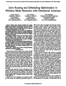 Joint Routing and Scheduling Optimization in Wireless Mesh Networks ...