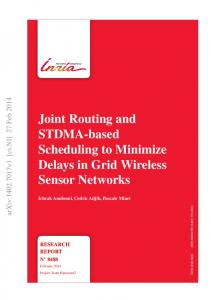 Joint Routing and STDMA-based Scheduling to ... - Semantic Scholar