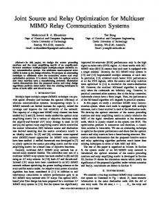 Joint Source and Relay Optimization for Multiuser MIMO Relay