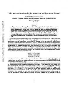 Joint source-channel coding for a quantum multiple access channel