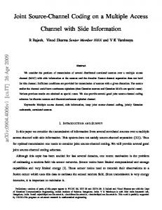 Joint Source-Channel Coding on a Multiple Access Channel ... - arXiv