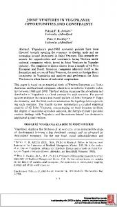 joint ventures in yugoslavia - Papers.ssrn.com