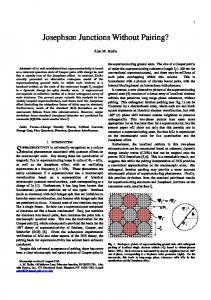 Josephson Junctions Without Pairing? - arXiv