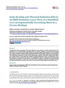 Joule Heating and Thermal Radiation Effects on MHD Boundary Layer ...