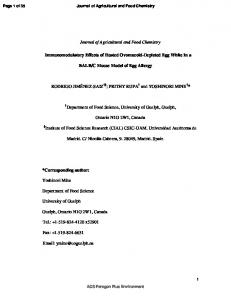 Journal of Agricultural and Food Chemistry ... - CSIC