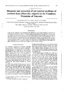 Journal of Agricultural Science, Cambridge (1993 ...