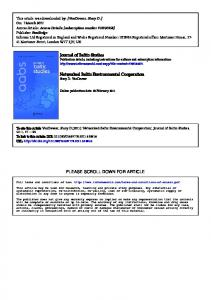 Journal of Baltic Studies Networked Baltic ...