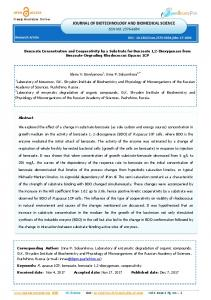 JOURNAL OF BIOTECHNOLOGY AND BIOMEDICAL SCIENCE