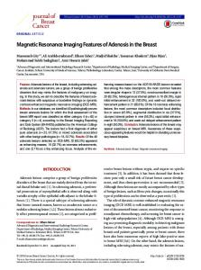 Journal of Breast Cancer - KoreaMed Synapse