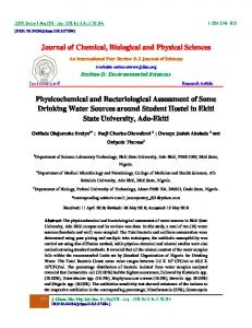 Journal of Chemical, Biological and Physical ...