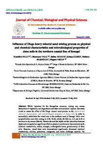 Journal of Chemical, Biological and Physical Sciences